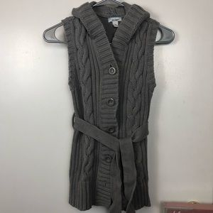 Old Navy Hooded Cable Knit Sweater Tunic